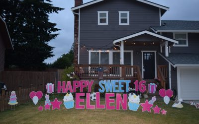Yard Announcements loves to celebrate Sweet 16 Birthdays with our FUN Birthday Yard Signs!