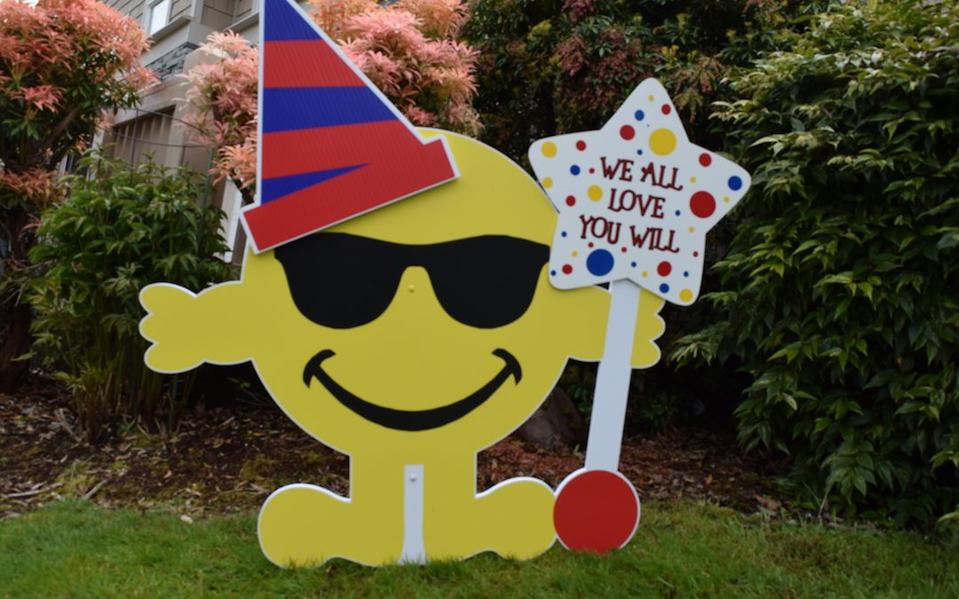 Large Yard Celebration Signs with Customized Messages