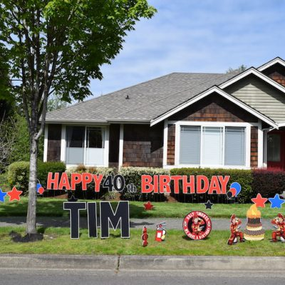 Holy Smokes we have a Birthday Yard Card Signs Firefighter Party Decorations