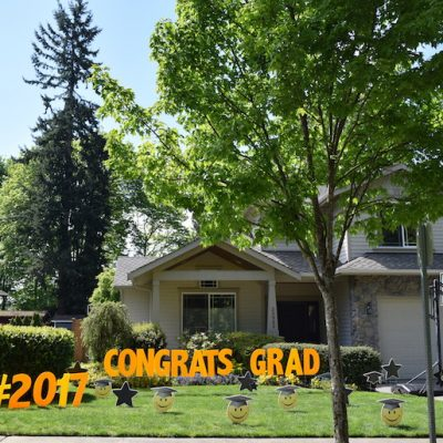 Shopping Cart 21 Graduation Emoji Yard Cards Lawn Signs Congrats Grad Party Decorations