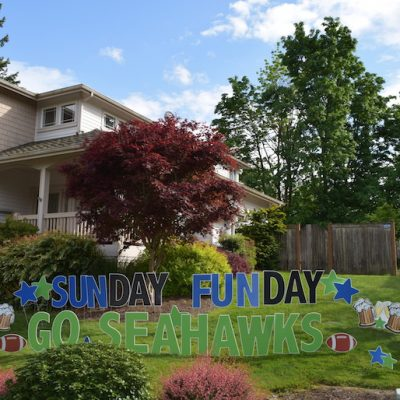 Shopping Cart 28 Go Seahawks Party Signs Sunday Funday Football Party Decorations for the Yard