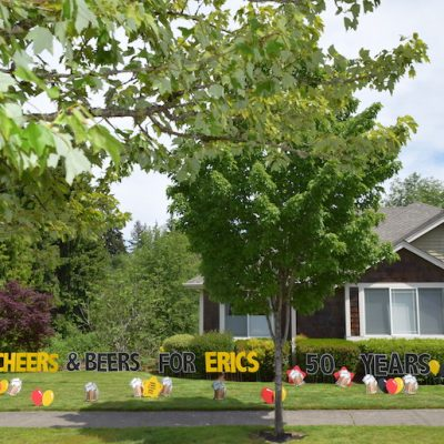 Cheers & Beers to Many More Years Milestone 50th Birthday Signs Party Decorations