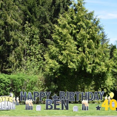 Over the Hill Funny Yard Card Signs Funny Birthday Party Decorations 40th 60th