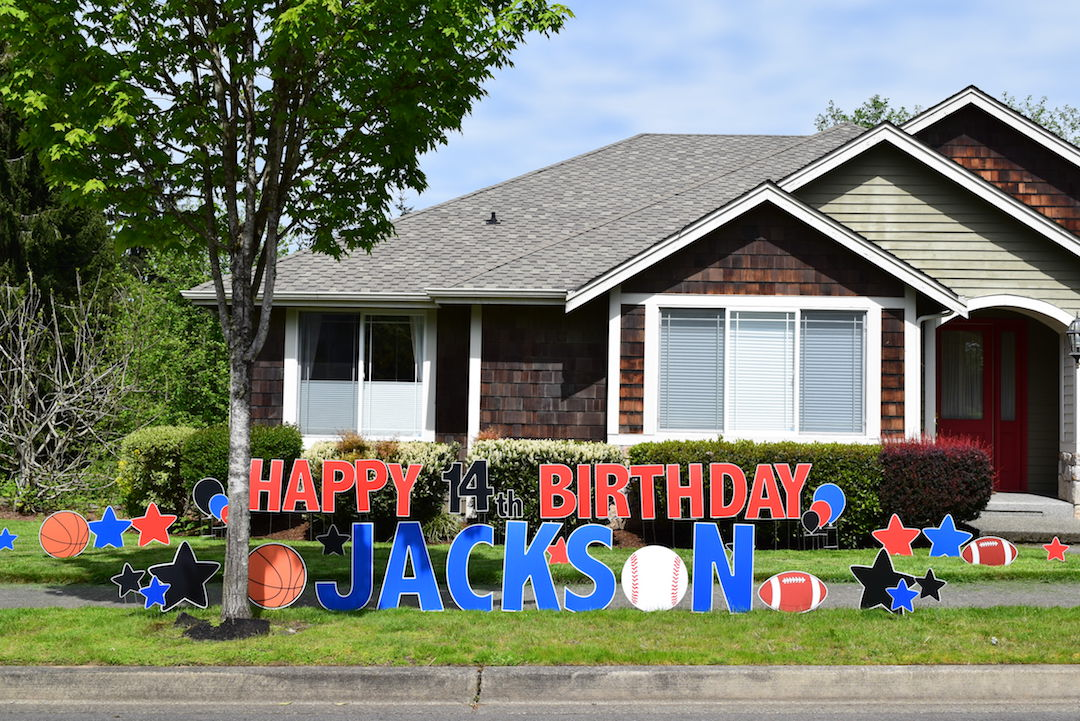 Yard Card For Any Occasion Happy Birthday Sports Party Decorations Signs