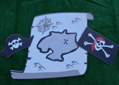 G-200 Pirate Treasure Map, Flags, Hats