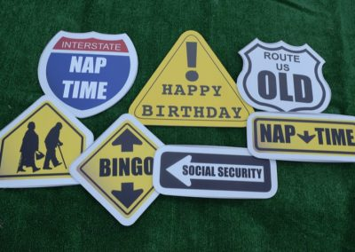 G-351 Birthday Funny Road Signs