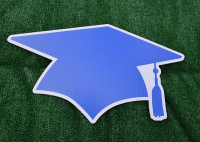 G-424 Royal Blue White Grad Cap