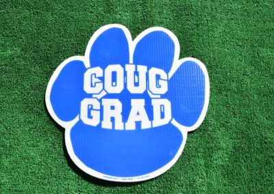 G-440 Coug Grad Paw Print Blue
