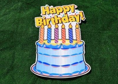 C-13 Blue Happy Birthday Cake