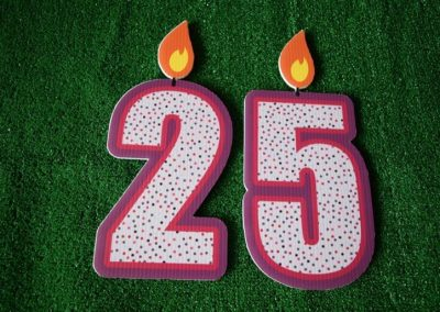 G-99 Number Candles Dk Pink