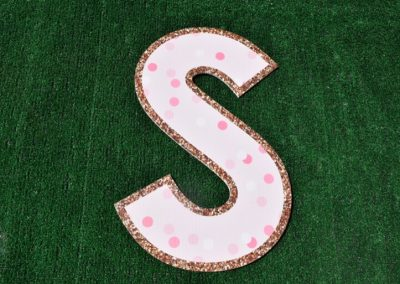 L-60 Pink Polka Dots Sweet 16 Letters