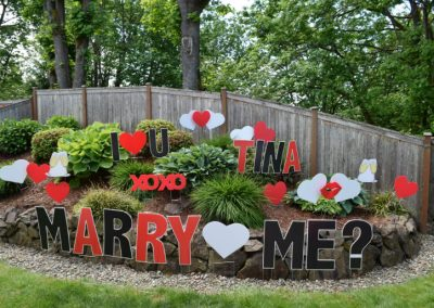 Will You Marry Me Sign Display