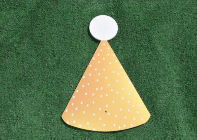 T-4 Gold White Party Hat