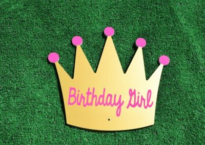 T-8 Gold Birthday Girl Crown