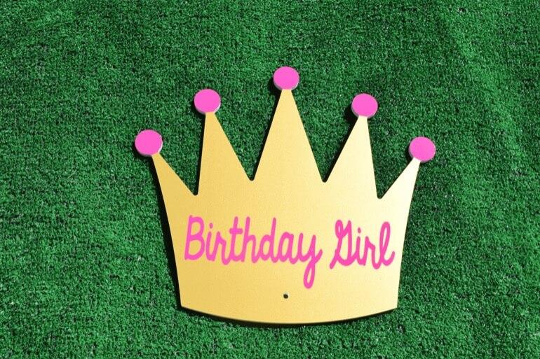 T-8 Gold Birthday Girl Crown