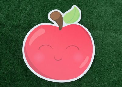 G-104 Red Apple Back to School Yard Sign