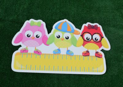 G-105 Owls and Ruler School Yard Sign