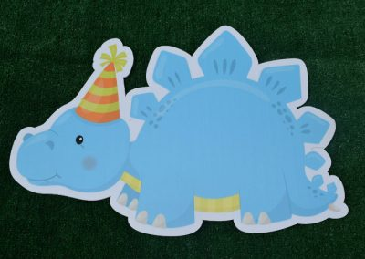 G-106 Blue Dinosaur Birthday Yard Sign