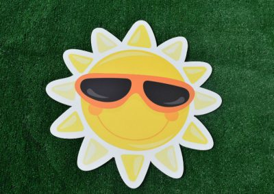 G-14 Sun with Sunglasses Yard Sign