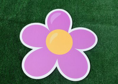 G-142 Purple Flower Yard Sign