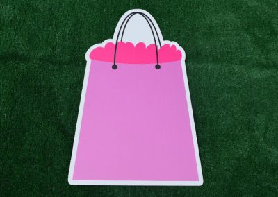 G-154 Pink Shopping Bag Yard Sign