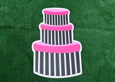 G-157 Pink Black Gift Boxes Girls Birthday Yard Sign