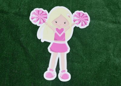 G-20 Pink Cheerleader Yard Sign