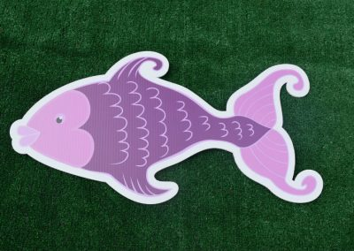 G-22 Purple Fish Under the Sea Yard Sign