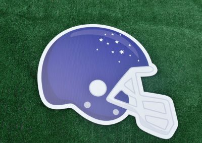 G-230 Blue Football Helmet Yard Sign