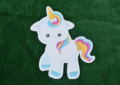G-29 Unicorn Right Facing Birthday Yard Sign