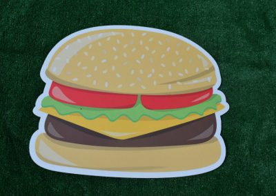 G-2A BBQ Hamburger Yard Sign