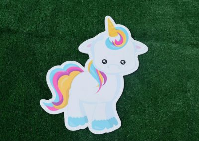 G-30 Unicorn Left Facing Birthday Yard Sign