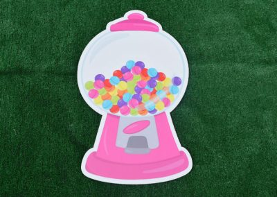 G-31 Pink Gumball Machine Yard Sign