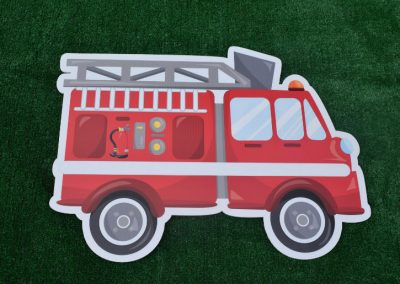 G-34 Firetruck Birthday Yard Sign