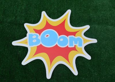 G-35 Boom Super Hero Yard Sign