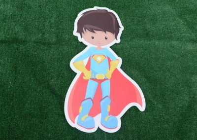 G-38 Super Hero Yard Sign Red Blue
