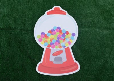 G-39 Red Gumball Machine Yard Sign