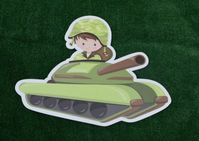 G-43 Militry Camo Tank Yard Sign