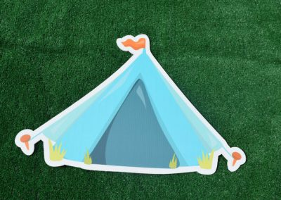 G-45 Blue Tent Camping Yard Sign