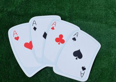 G-5 Poker Cards Yard Sign