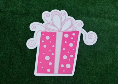 G-53 Pink Polka Dot Present Yard Sign
