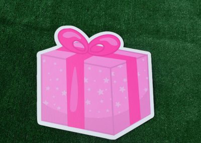 G-54 Pink Star Present Yard Sign