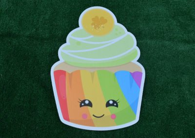 G-67 Rainbow Cupcake Birthday Yard Sign