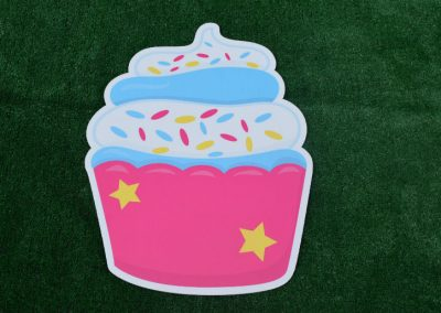 G-68 Pink Blue Sprinkles Birthday Cupcake Sign