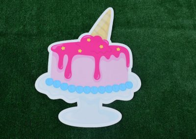 G-69 Ice Cream Birthday Cake Yard Sign