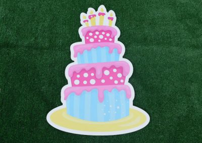 G-70 Pink Blue Birthday Cake Yard Sign