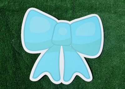 G-8 Ice Blue Bow Yard Sign