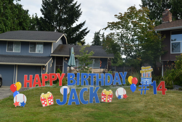 Celebrating Babies and Birthdays with Yard Sign Rental Displays