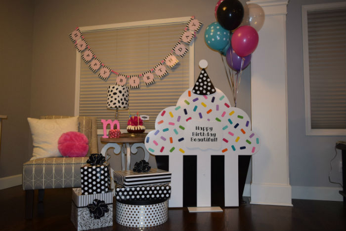 Cupcake Birthday Lawn Signs can be used Indoors for Birthday Party Decorations too!