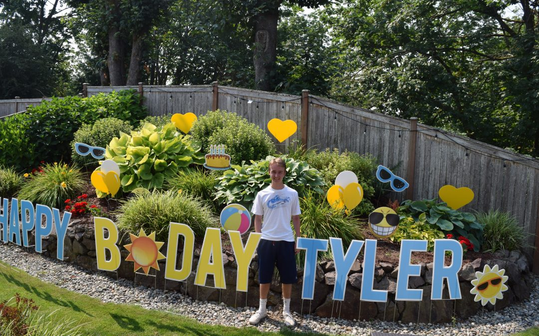 Summer Birthday Yard Signs are the Best!
